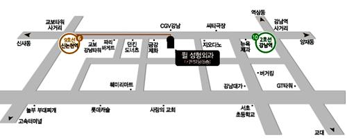 韩国will整形外科医院来院路线乘坐地铁9号线