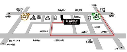 韩国will整形外科医院来院路线乘坐出租